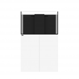 WATERBOX MARINE X 90.3 AQUARIUM - WHITE CABINET