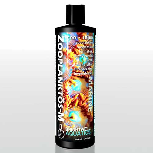 Brightwell Aquatics Zooplanktos-M - Zooplankton (Medium) 500-1K micron 500 ml / 17 fl. oz.